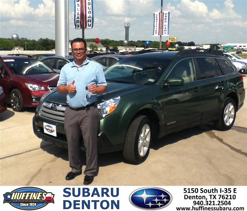Thank You To Edward Escobar On The 2013 Subaru Outback Fro