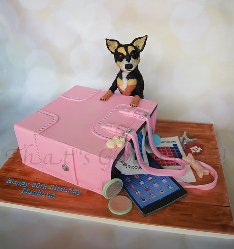 Coach Purse Cake With Chihuahua Happy 30th Birthday