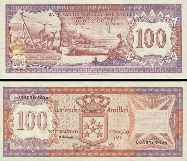 100 Guldenov Holandské Antily 1981, P19b