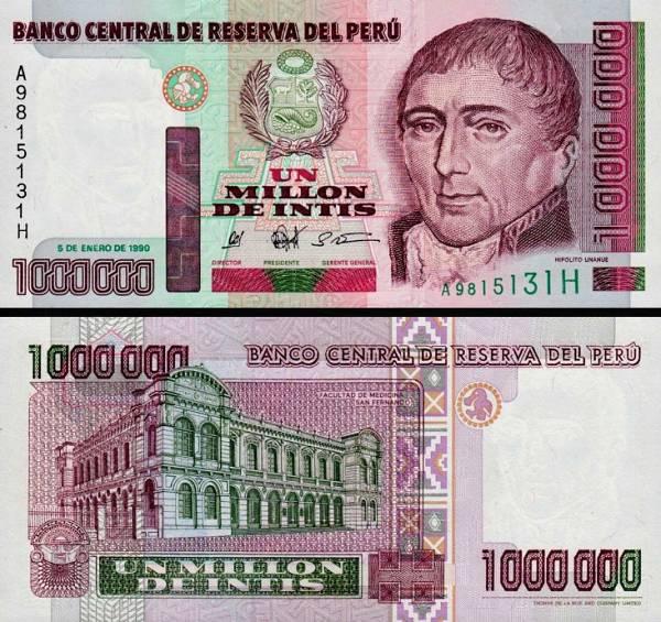 1 000 000 Intis Peru 1990, P148
