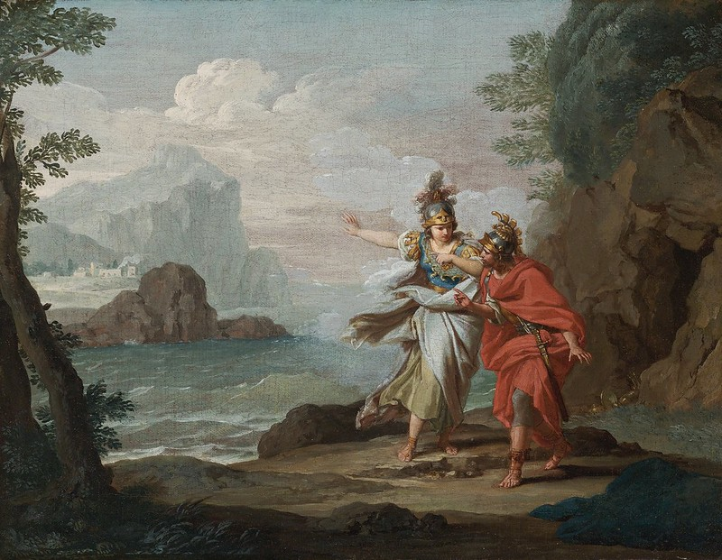 Giuseppe Bottani - Athena appearing to Odysseus to reveal the Island of Ithaca