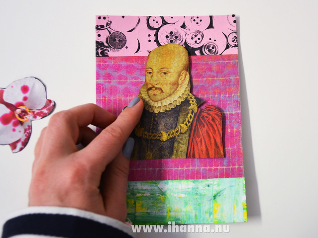 Feeling a bit bare, this postcard - made by iHanna #diypostcardswap