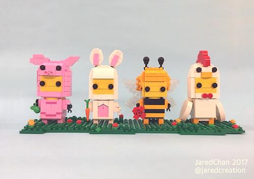 Collectible Animal Suit Brickheadz (2017)
