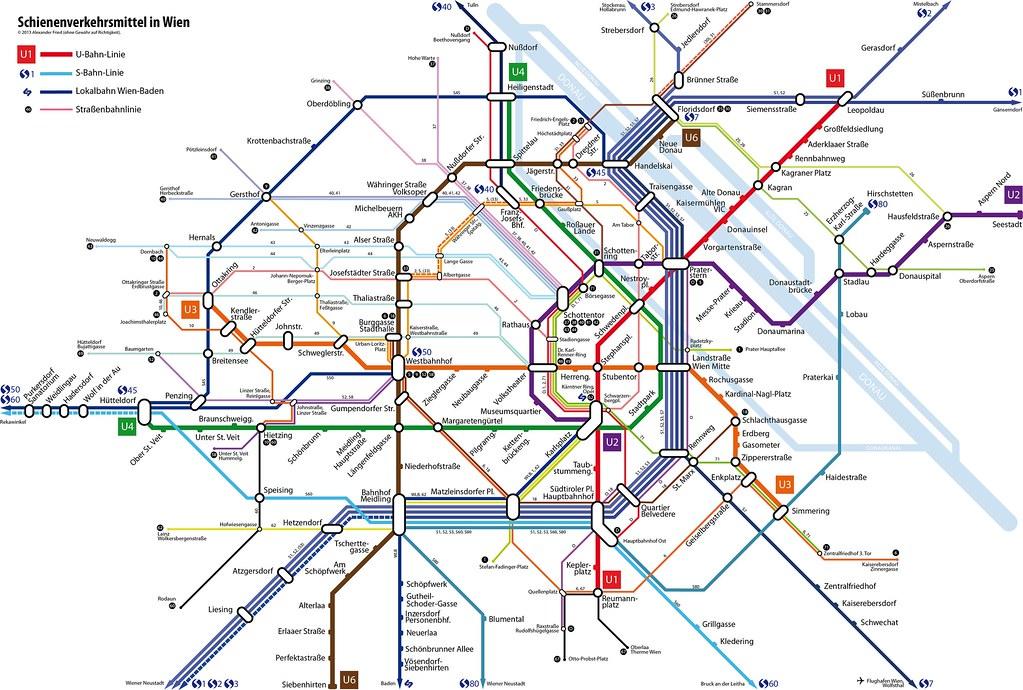 Wiener Linien Plan UBahn SBahn Straenbahn gltig ab Flickr