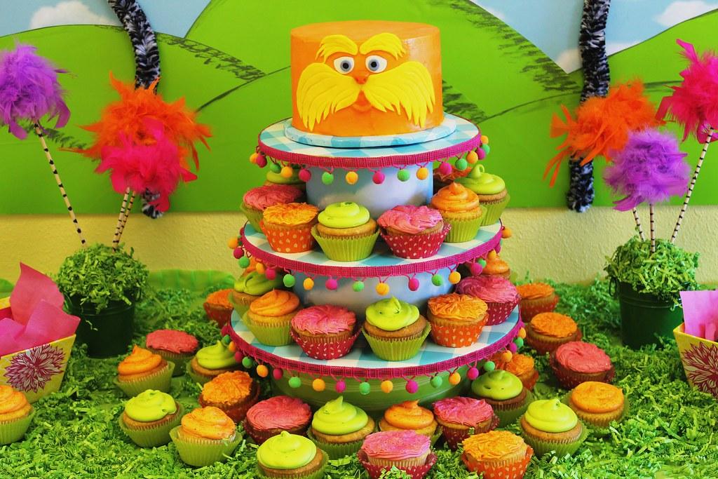 Madis Lorax Birthday Party Cakes Lorax Cake Orange With Flickr