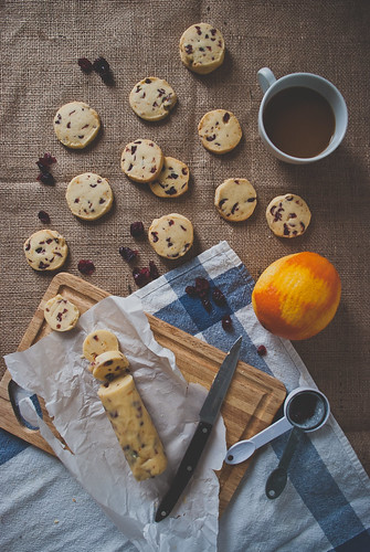 Cranberry Orange Shortbread Cookies. | by Two Red Bowls