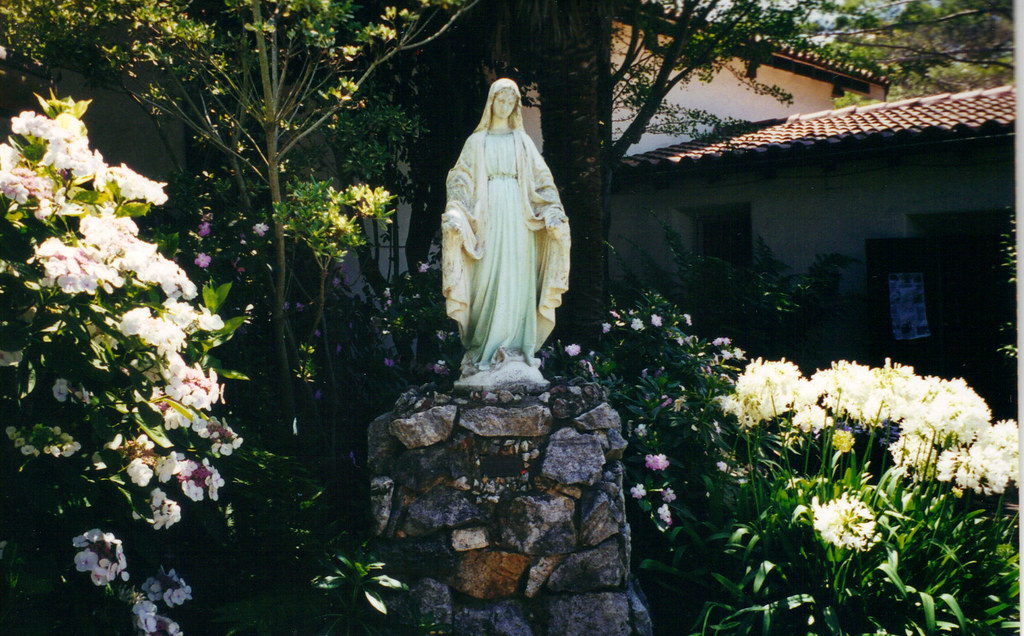 Delicieux ... Mother Mary Statue In The Garden Of Mission Santa Cruz In Santa Cruz,  CA |