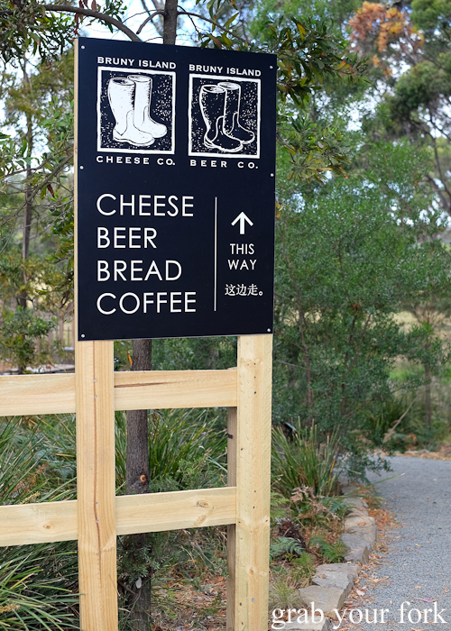 Entrance to Bruny Island Cheese Co on Bruny Island in Tasmania