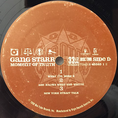 GANGSTARR:A MOMENT OF TRUTH(LABEL SIDE-D)
