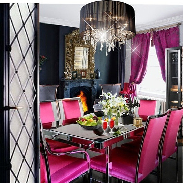 #pink #hotpink #diningroom #dining #table #family #