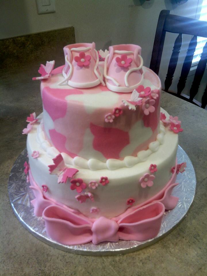 Pink Camo Baby Shower Cake Jennifer Flickr