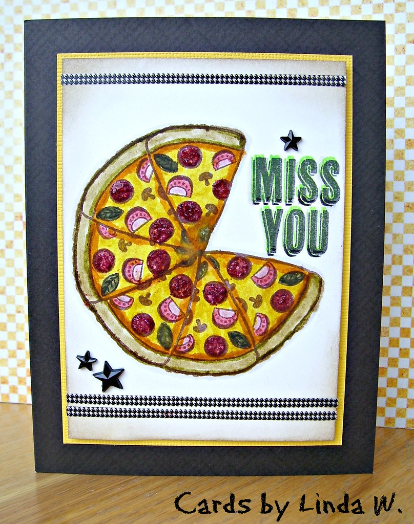 Miss You Pizza Card Two For The Ha Hostess Blog Hop 2014 Flickr