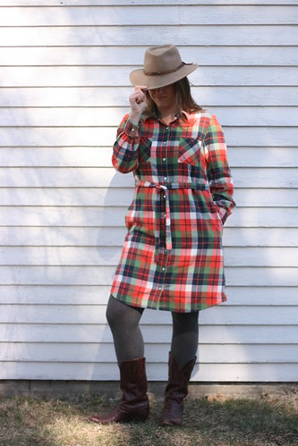 Simplicity 8014 in Mammoth Plaid | by patternandbranch