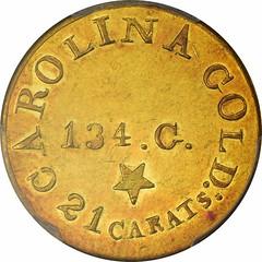 C. Bechtler $5 Gold reverse