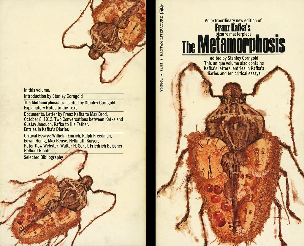bantam books ym franz kafka the metamorphosis wit flickr bantam books ym6954 franz kafka the metamorphosis back by swallace99