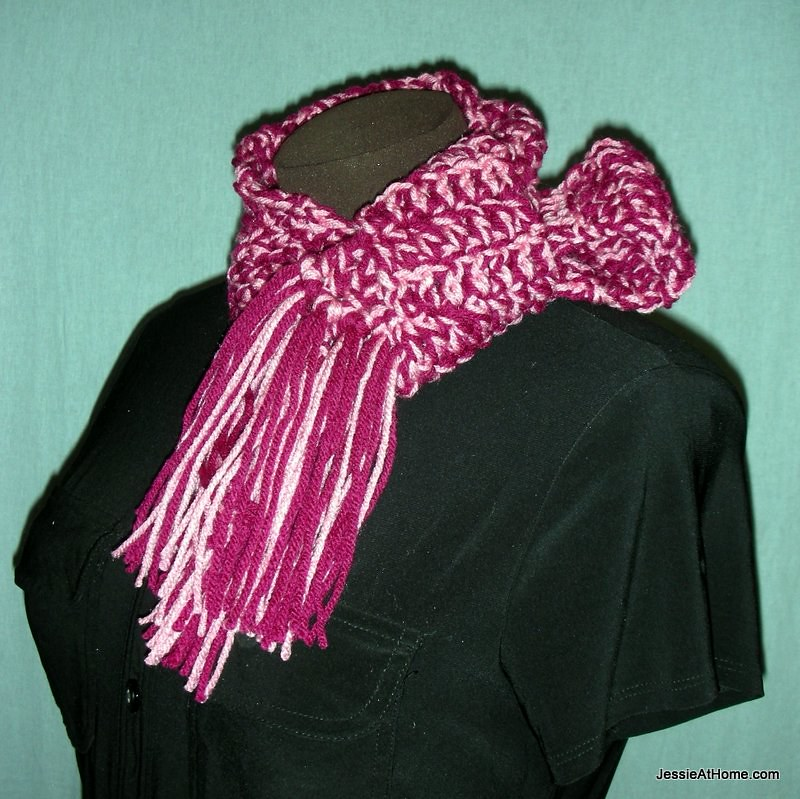 Leo Scarf Free Crochet Pattern Worsted Weight Vertical Flickr