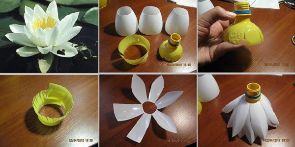 Recycling Craft Plastic Bottles Flowers Tutorial