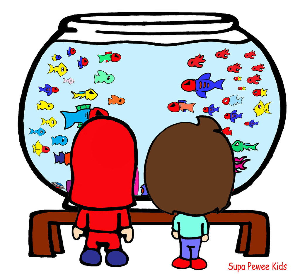 Mason B-Pop Fish Bowl Cartoon Kid Aquarium Bad Girl Boy Ma… | Flickr