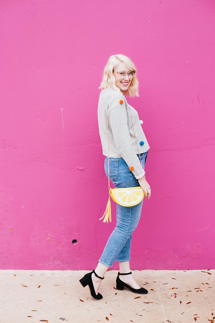 austin fashion blogger pom pom sweater2