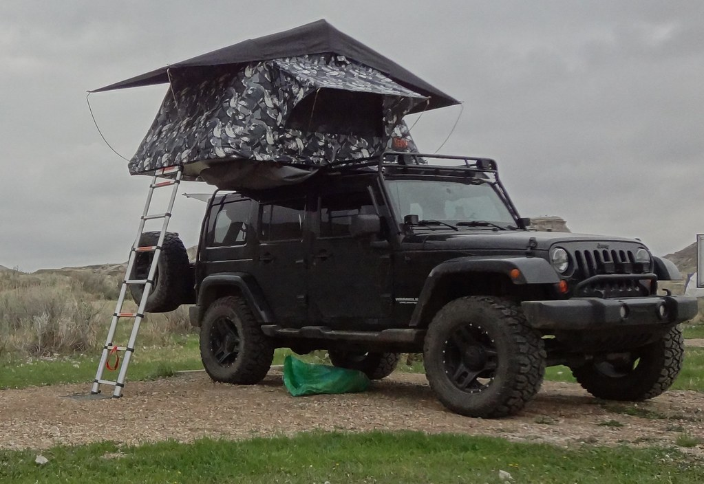 Jeep Wrangler Jk With Tepui Tent With Worx Triad Wheels D Flickr