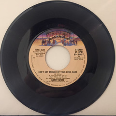 BARRY WHITE:CAN'T GET ENOUGH OF YOUR LOVE,BABE(RECORD SIDE-A)