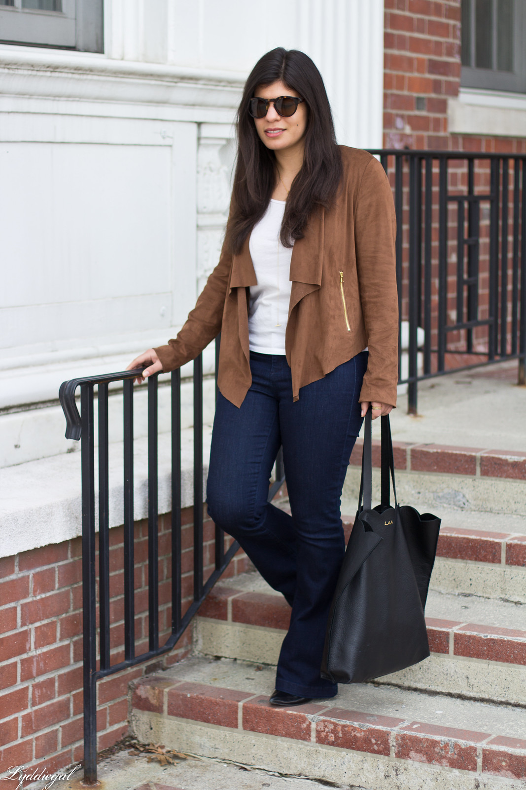 Draped suede jacket, flared jeans, matine tilly tote-8.jpg