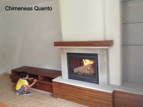 Chimenea frontal quento modelo dela con mueble www - Chimeneas quento ...