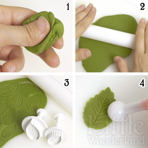 C mo hacer hojas de menta con pasta de modelar mexicana - Pasta para modelar manualidades ...