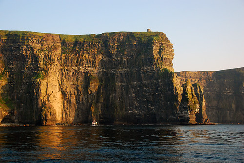 Underneath the Cliffs of Moher from the Aran Islands ferry