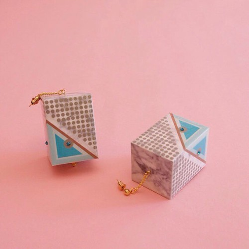 Paper Earrings by Funky Fondled and Fresh