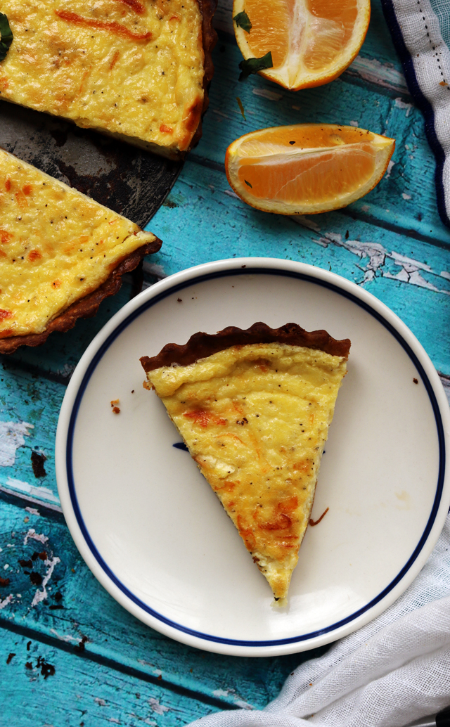 Creamy Meyer Lemon and Black Pepper Quiche