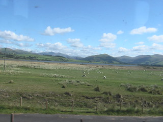 Photograph of N.W. Wales mountains from a Cambrian Coast train