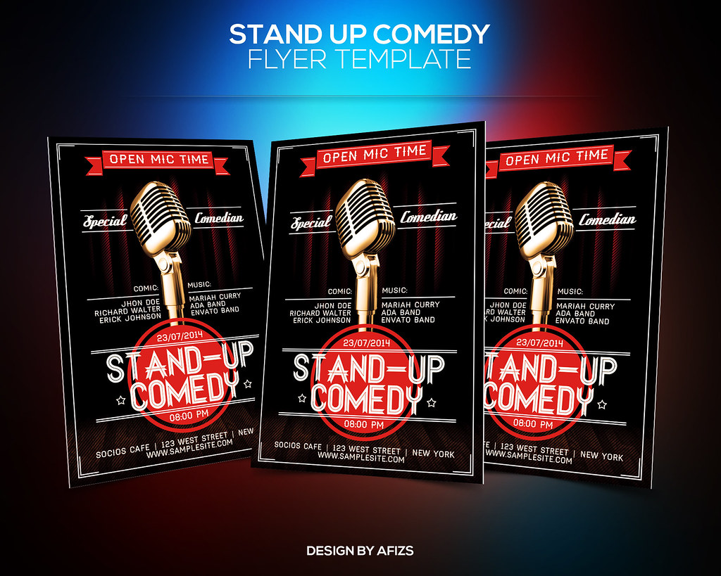StandUp Comedy Flyer Template | Download PSD file here: grap… | Flickr
