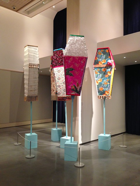Yinka Shonibare's Coffin Sculptures at Lexington KY 21c Museum Hotel