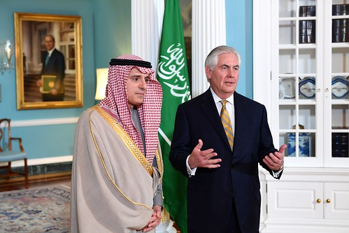 Secretary Tillerson and Saudi Foreign Minister Adel Al-Jubeir Address Reporters in Washington | by U.S. Department of State