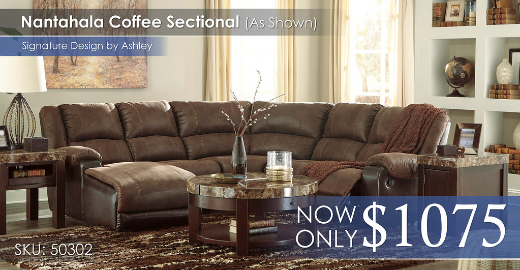 Nantahala Coffee Sectional 50302