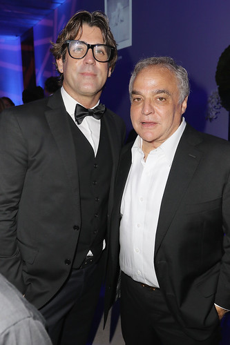 Artist Carlos Betancourt and Lee Brian Schrager attend PAMM Art Of The Party Presented By Valentino