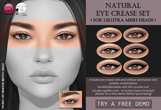 Natural Eye Crease Set (LeLutka) for FLF