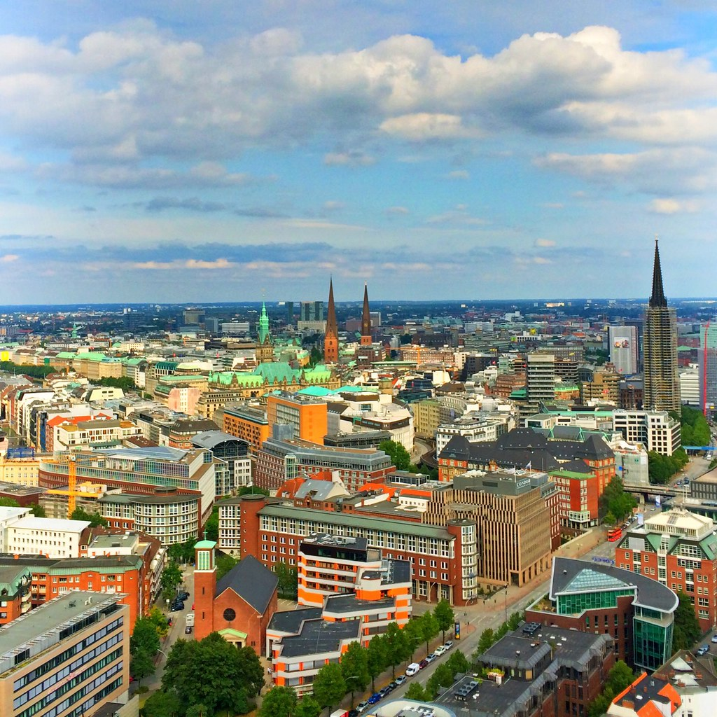 Hamburg, Germany, seen from up high