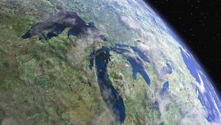 A view of the Great Lakes from space