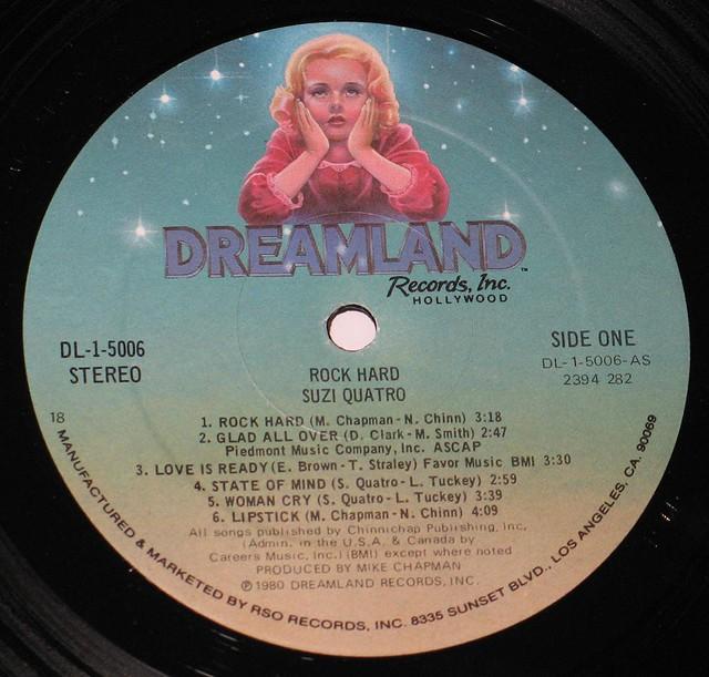 "SUZI QUATRO ROCK HARD DREAMLAND RECORDS 12"" LP"