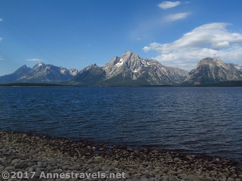 The Tetons from the lake shore by the Lakeshore Trail, Grand Teton National Park, Wyoming
