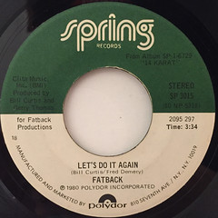 FATBACK:LET'S DO IT AGAIN(LABEL SIDE-A)