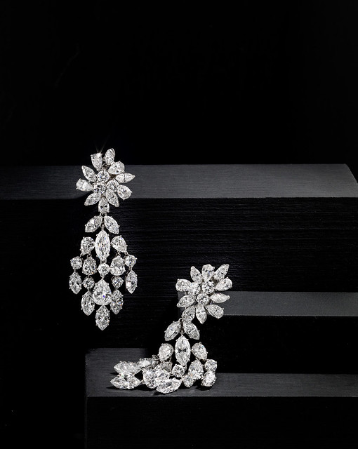 A pair of diamond day-night earrings, Van Cleef & Arpels, 129