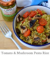 Roasted Tomato & Mushroom Pesto Mushroom Rice