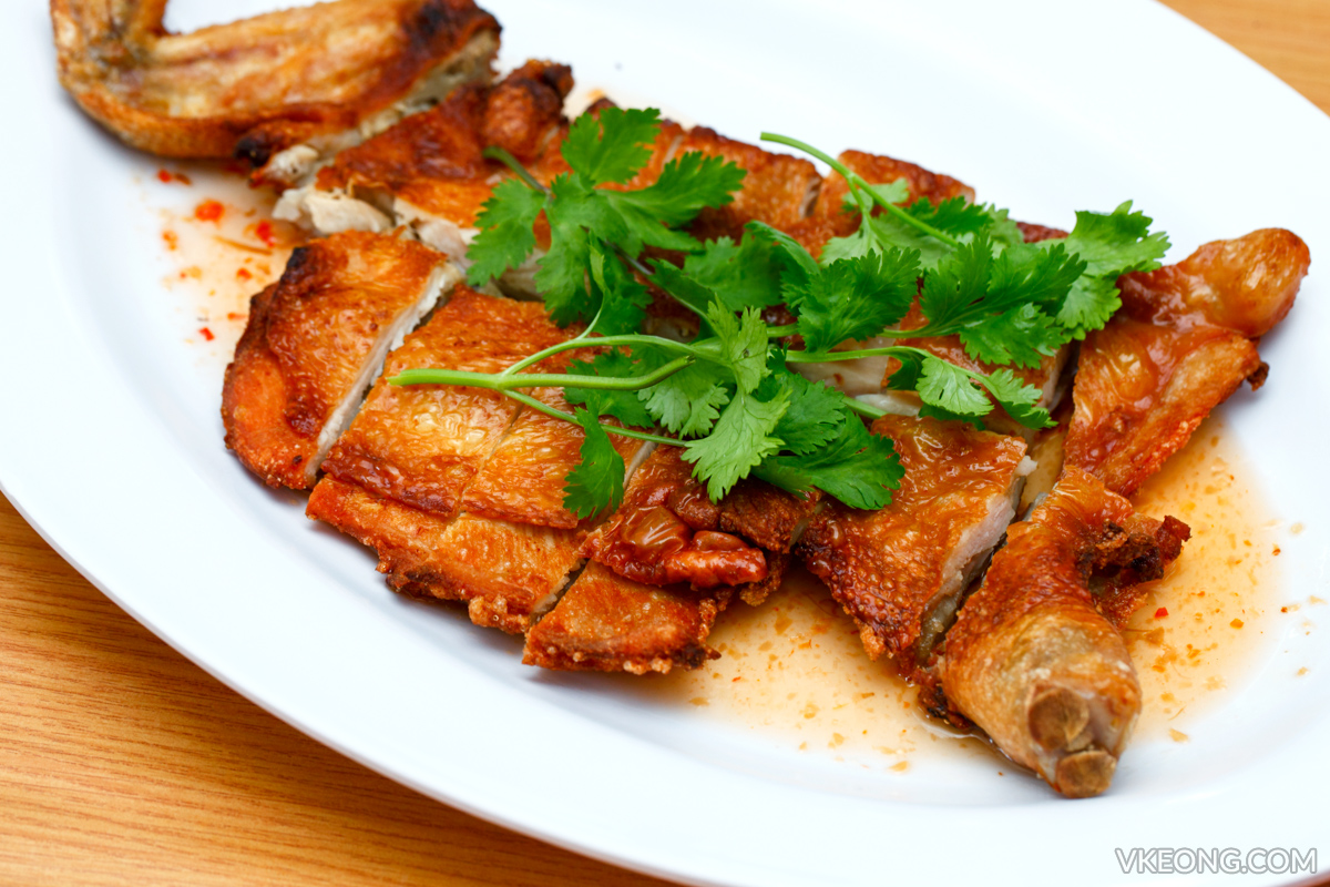 Flattened Fried Chicken and Mackerel