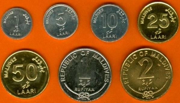 Maldivy 1-5-10-25-50 Laari + 1-2 Rufiyaa 2007-2012 UNC