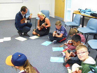 Multi-Cultural Manchester - Students Learn How to Play the Ukulele | by Manchester Children's Book Festival