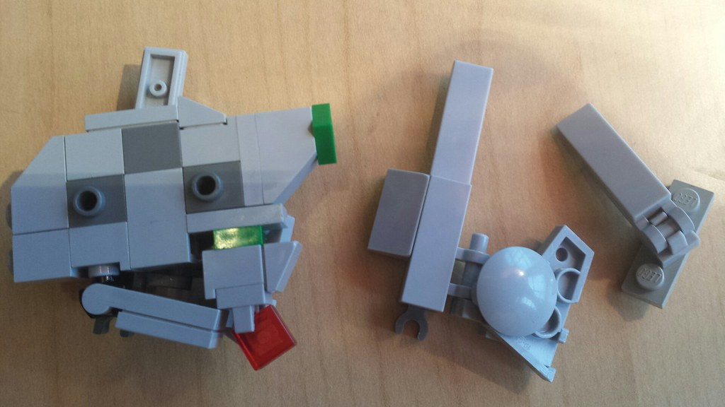 Lego Gundam Head Design Wip All Of The Gray Will Be White Flickr