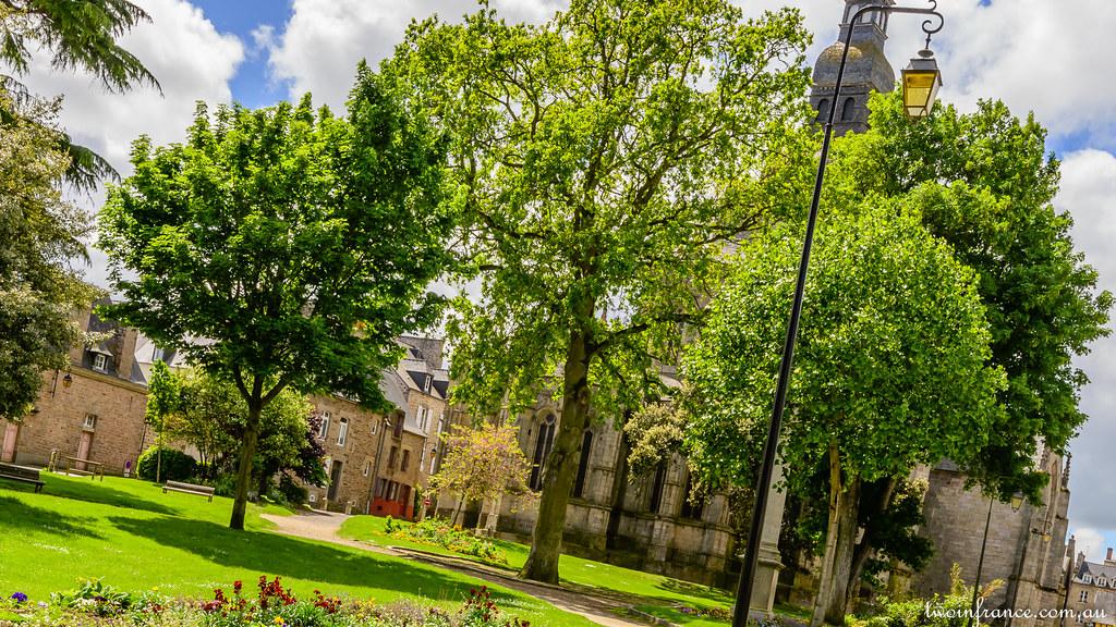 Basilica Saint Sauveur Dinan Viewed From Jardin Anglais Flickr